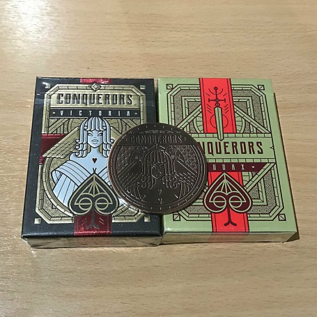 Conquerors Victoria, Audax Playing cards & Mars Sestertius Coin