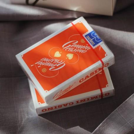Gemini Casino 1975 Orange Playing Cards
