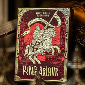 King Arthur Carmine Cavalier Playing Cards