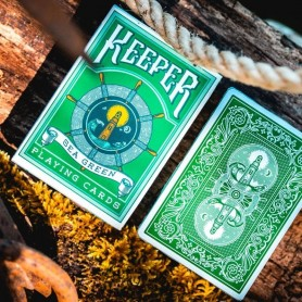 Sea Green Keepers Playing Cards